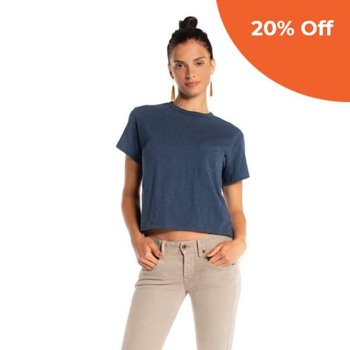 James Tee   Synergy Organic Clothing $44.00   Save 20% off your order  with promo code: donegood