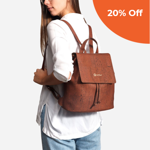 Cork Backpack   Corkor $154.50   Save 20% off orders over $100  with promo code: corkordonegood20
