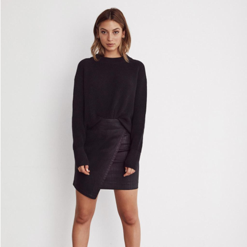 The Cropped Mockneck Sweater   VETTA $159.00