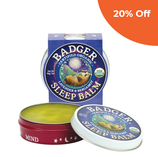 Sleep Balm     Badger Balm $9.99   Save 20% off your first order  with promo code: DONEGOOD