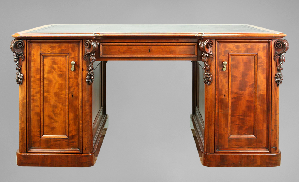 Ruskin's desk, as seen after restoration