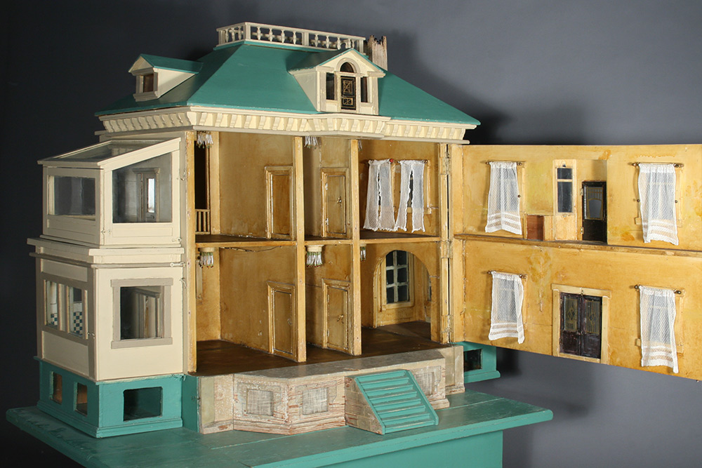 Photo:  Historic dollhouse interior after restoration