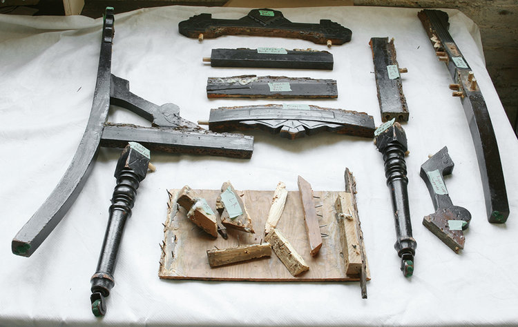 Photo:  Disassembled chair frame