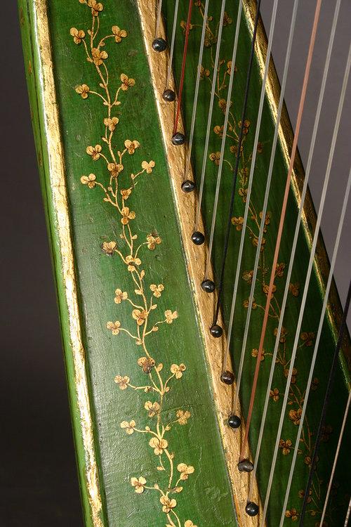 John Egan harp detail