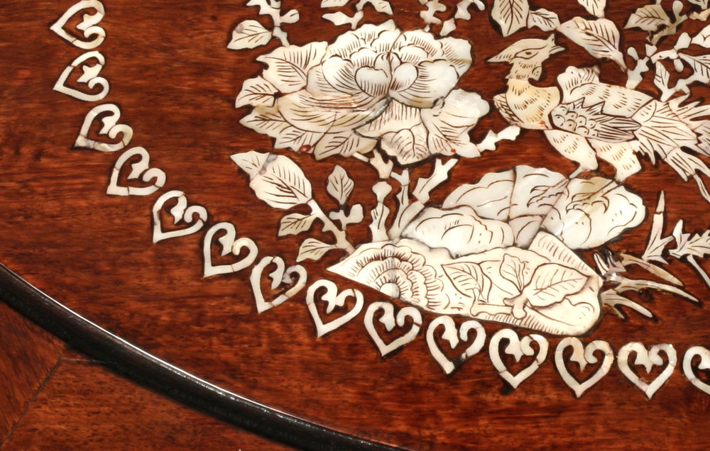 Detail of inlay after conservation