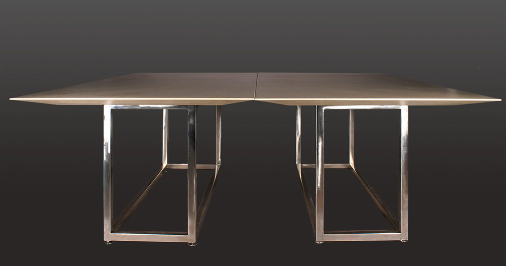 TWO IDENTICAL MATCHING DINING ROOM TABLES