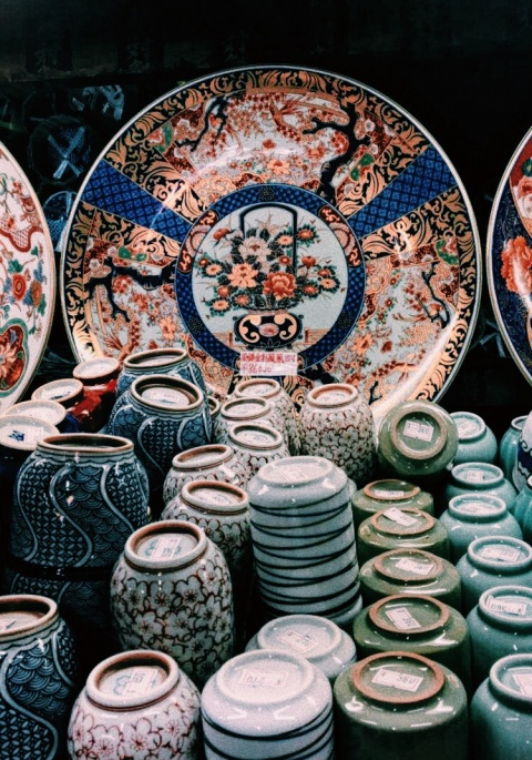 Mesmerizing ceramics I found being sold at the base of the mountain.