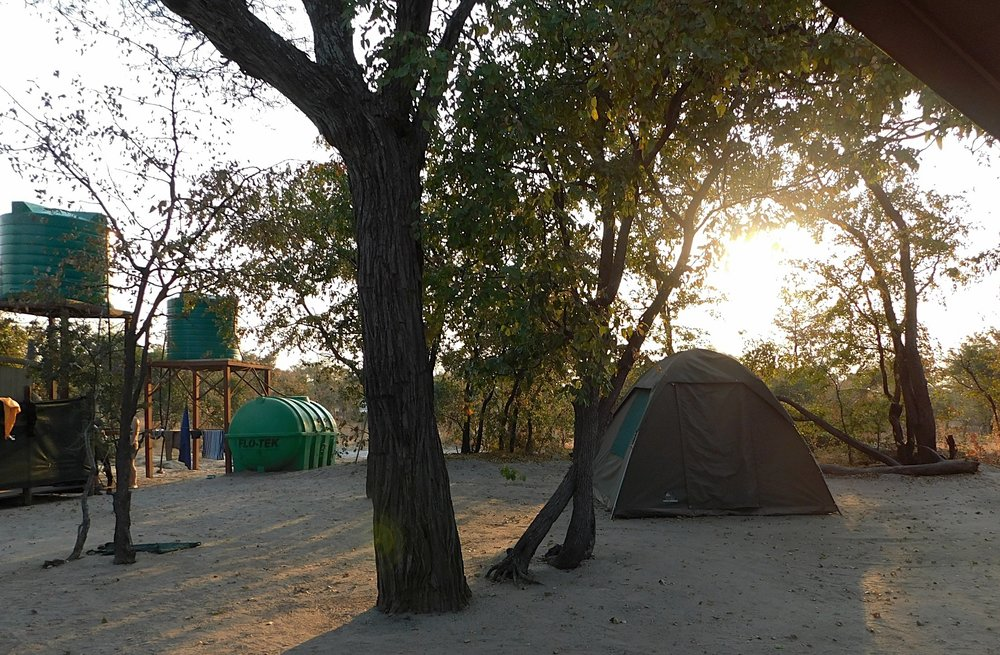 Appreciating the sun rising each morning from our camp.