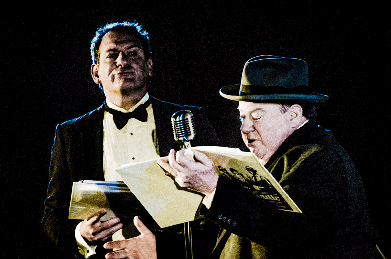 """David performing in """"Phantom of the Opera"""" with George Wendt"""