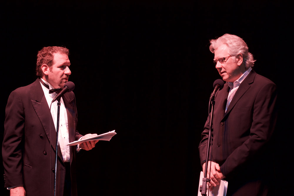"""David, with John Larroquette in """"War of the Worlds"""""""