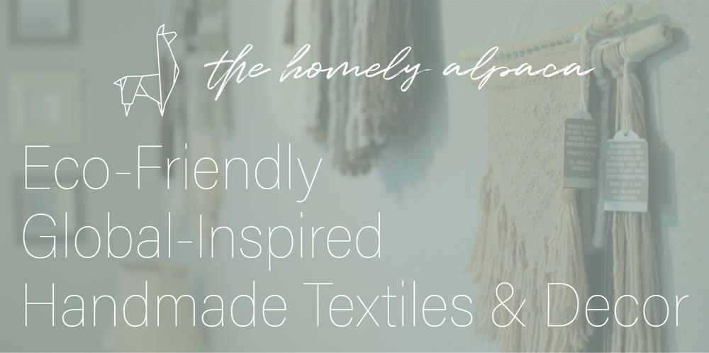 The Homely Alpaca - eco-friendly, global-inspired, handmade textiles & decor