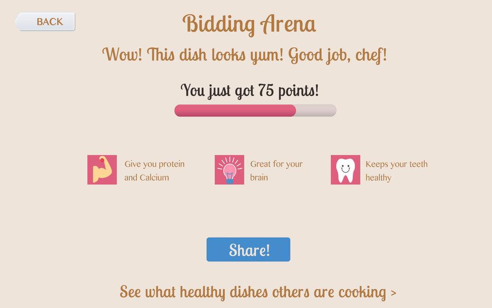 Bidding Arena Screen