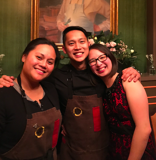 The Pinoy Heritage team: Danica, Francis, and Dian