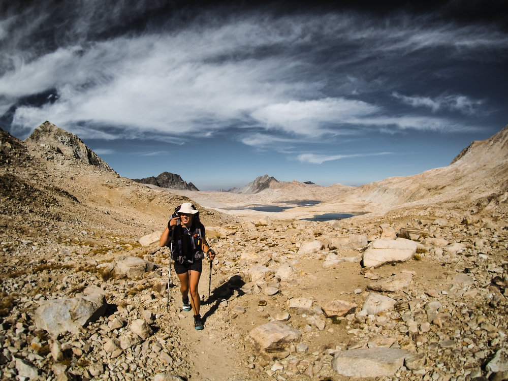 Reaching the top of Muir Pass on a dry year