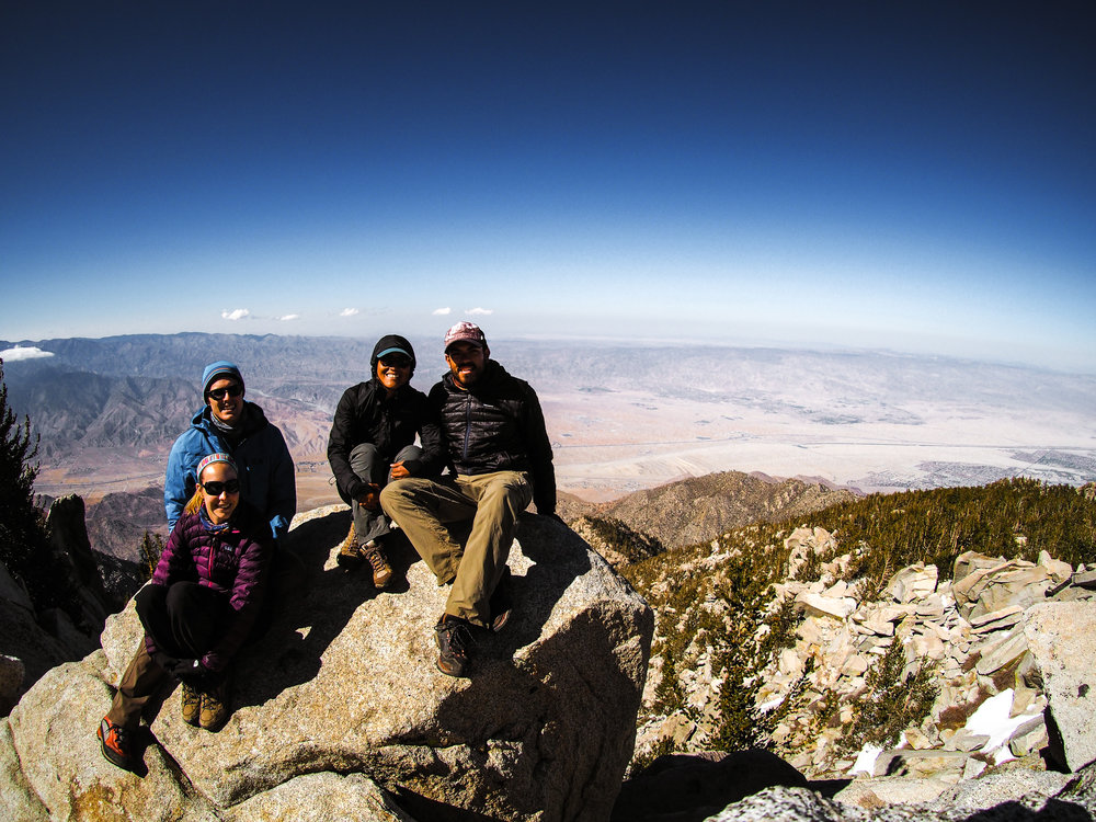 Summit of San Jacinto friends that visited me on trail