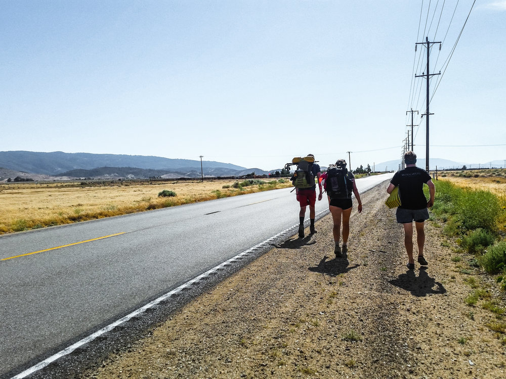 Trying to hitchhike into Hiker Town