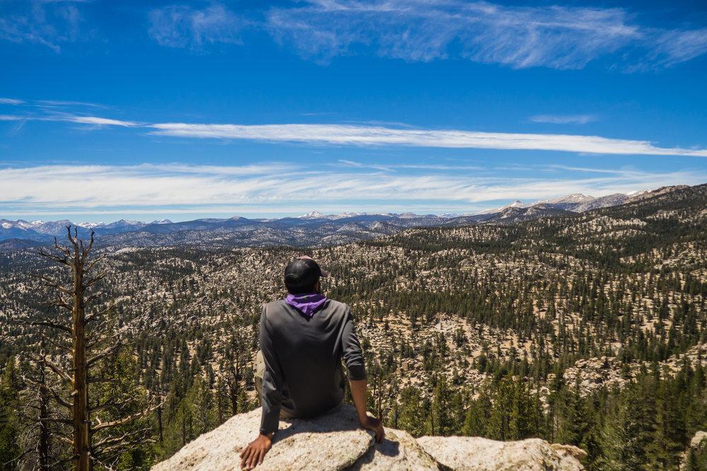The High Sierra lies ahead