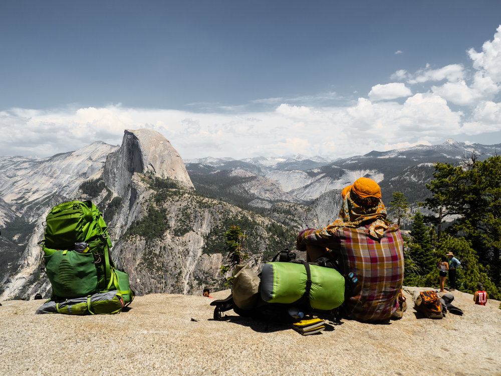 It was Chips and Moontrain's first time visiting Yosemite Valley