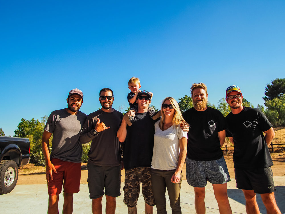 """Myself with """"Shaka,"""" """"Flop,"""" and """"TyDy"""" taking a picture with The Vels family. They gave us a place to stay and an amazing dinner in Agua Dulce"""