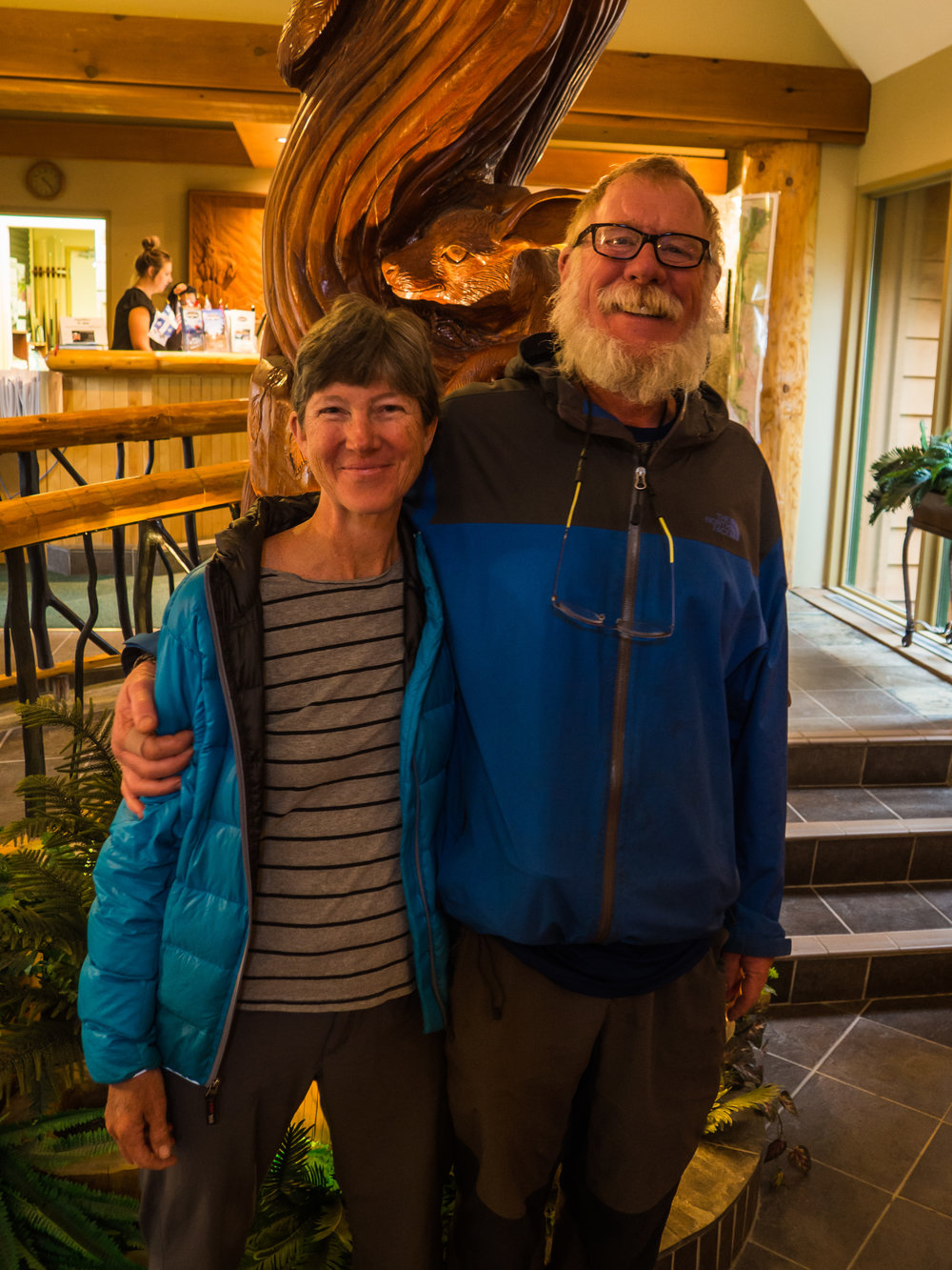 """""""Alta"""" and her husband, who supported her hike. He provided much needed trail magic in various parts of the trail"""