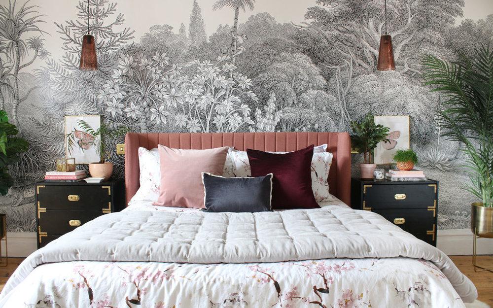 Bedroom reveal via  swoonworthy blog