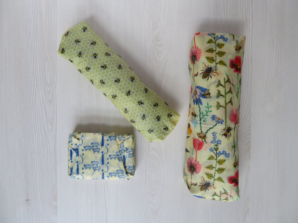 Honey Bee Wrap beeswax food wraps uk handmade