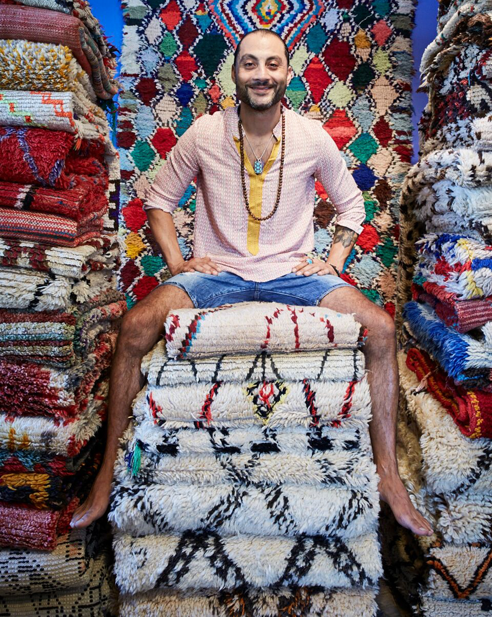 About Us - Kechmara Designs brings together art, history, design and luxury with several distinct styles of Moroccan-made rugs and home accessories. Using centuries-old techniques, each piece is a unique testament to the ancient art of weaving practiced by women in the native tribes of the Atlas Mountains. Each vintage treasure has been carefully hand-selected by founder Ali Setayesh, exclusively for Kechmara Designs.