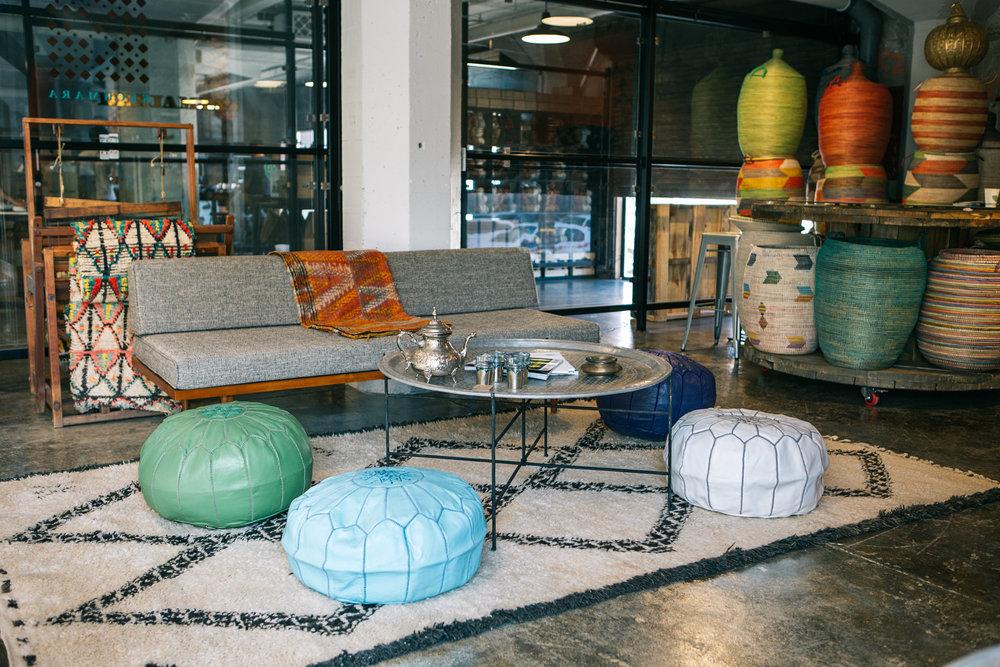 Cushions & Poufs -