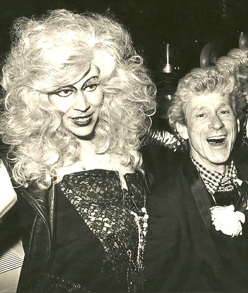 Robert Morgan and  Henry Faulkner at the Opening of Johnny Angel Disco, 1978.