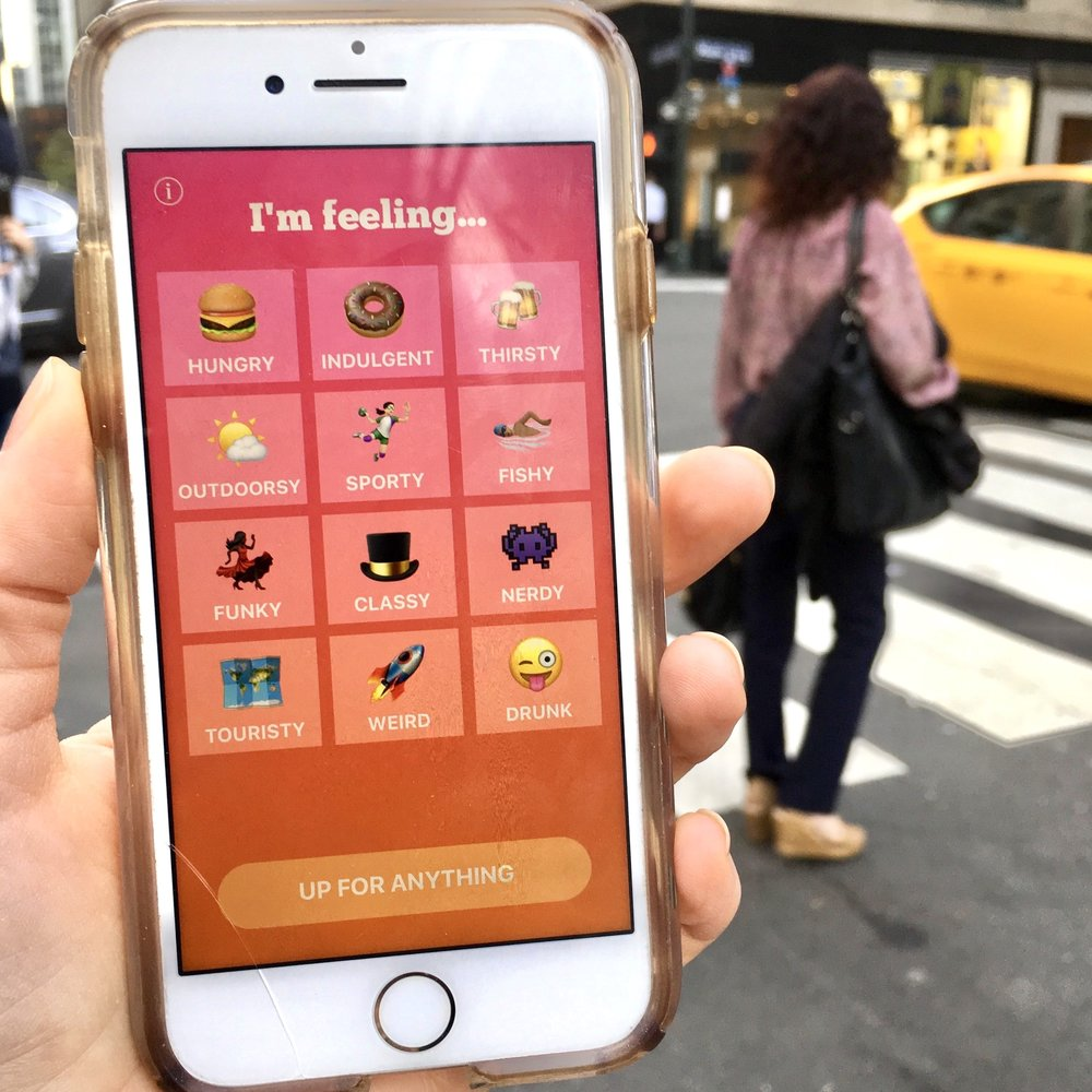 Breaking filter bubbles with Blindfold - Independent iOS app for surprise destinations based on your mood