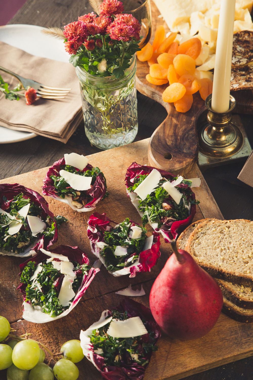 Radicchio Kale Salad Cups - recipe, styling and photography for Emmi USA