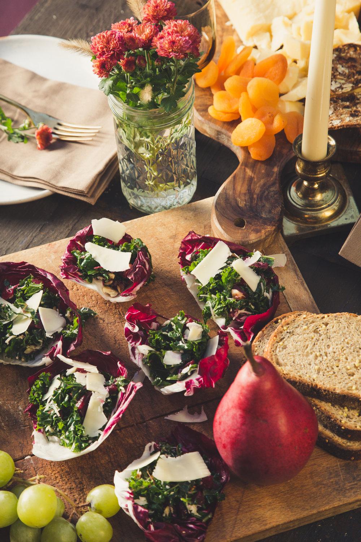 Radicchio Kale Salad Cups - Recipe and photo for Emmi USA
