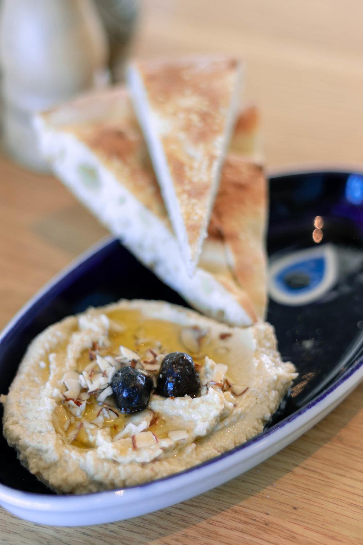 Homemade Hummus and Turkish Pide -