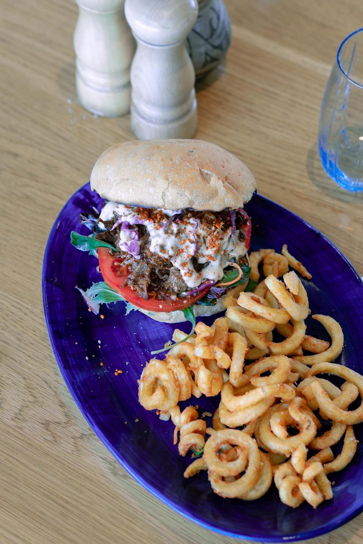 Pulled Lamb Burger -