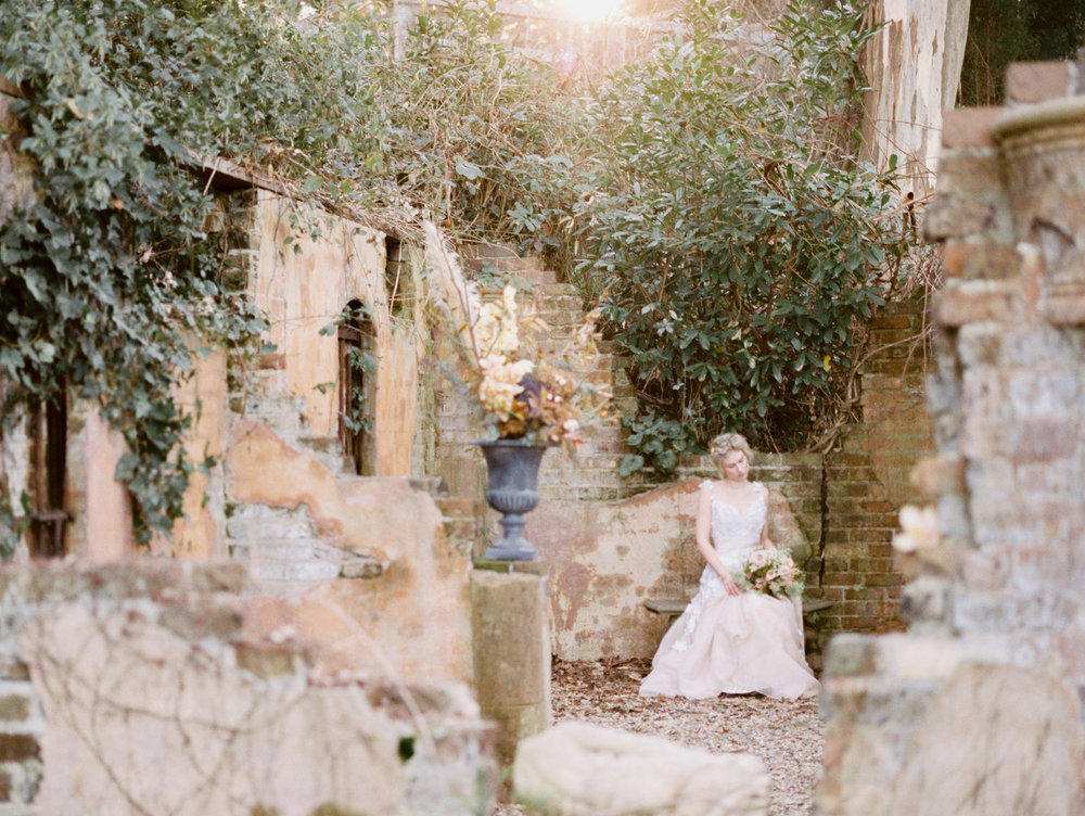 Hopewood House - Romantic Winter Wedding Shoot - Lilli Kad Photography - Shot - Ruins.jpeg