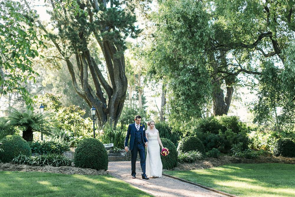 Hopewood House - Wedding Day Gallery - Lisa and Mark - At Dusk Photography - Couple Garden Walk.jpeg