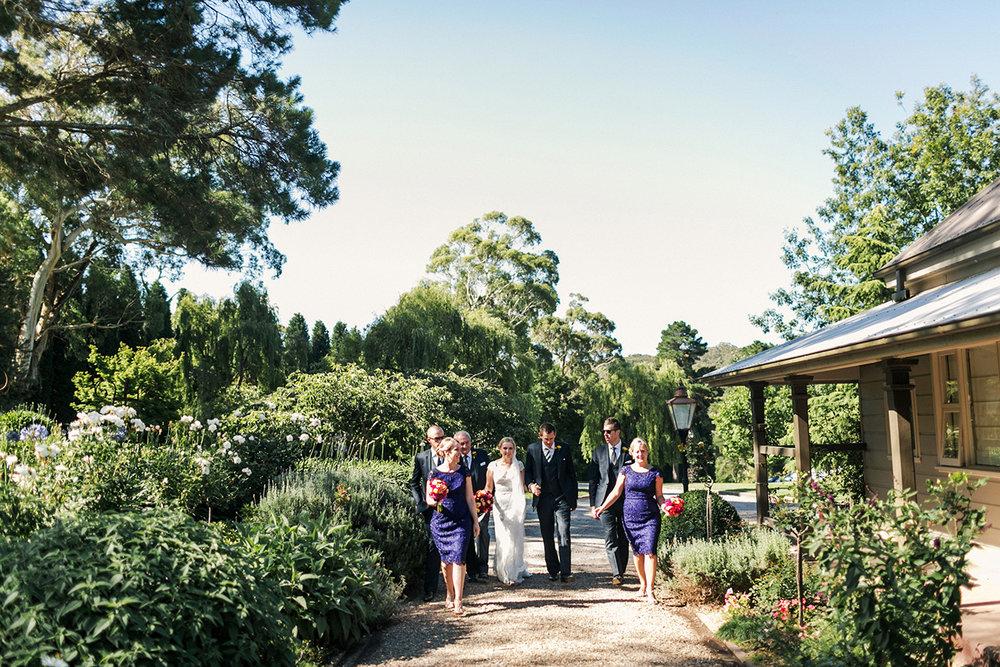 Hopewood House - Wedding Day Gallery - Lisa and Mark - At Dusk Photography - Garden Walk past the Artists Cottage Accommodation.jpeg