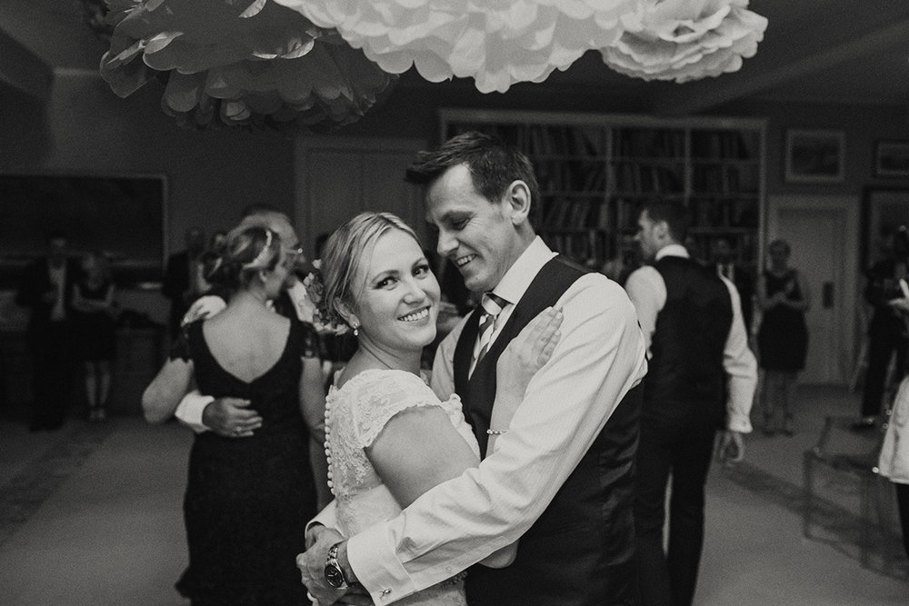 Hopewood House - Wedding Day Gallery - Lisa and Mark - At Dusk Photography - Pavilion downstairs ballroom Couple dancing.jpeg
