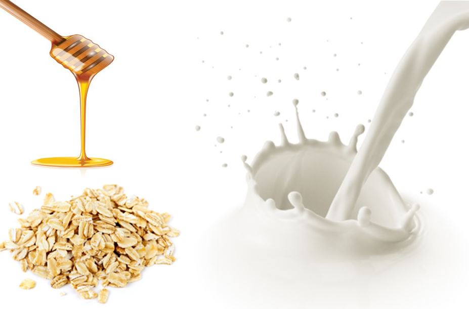 Milk Honey Oats - Oats is an excellent to exfoliate the skin, while honey and milk helps to moisturize,giving soft, healthy and clear skin.Good for acne, scars, glowing skin.