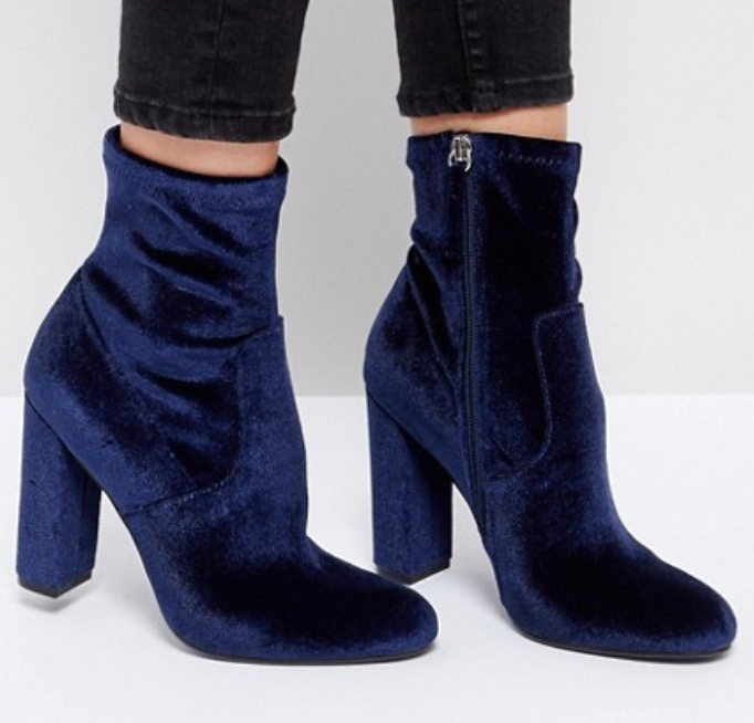 Blue Velvet Booties - My boyfriend gave these to me as a Christmas gift last year, and I didn't get to wear them much but I adore them, so I'm excited to break them in once fall starts.