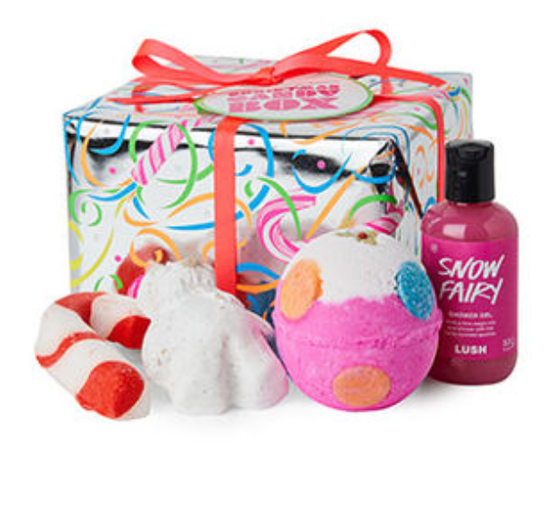 Lush Bath Bomb Set - There is a section on their website dedicated to gifts for the holiday season and there are so many to choose from and they are all so cute! The only way to take a bath is with a Lush bath bomb.