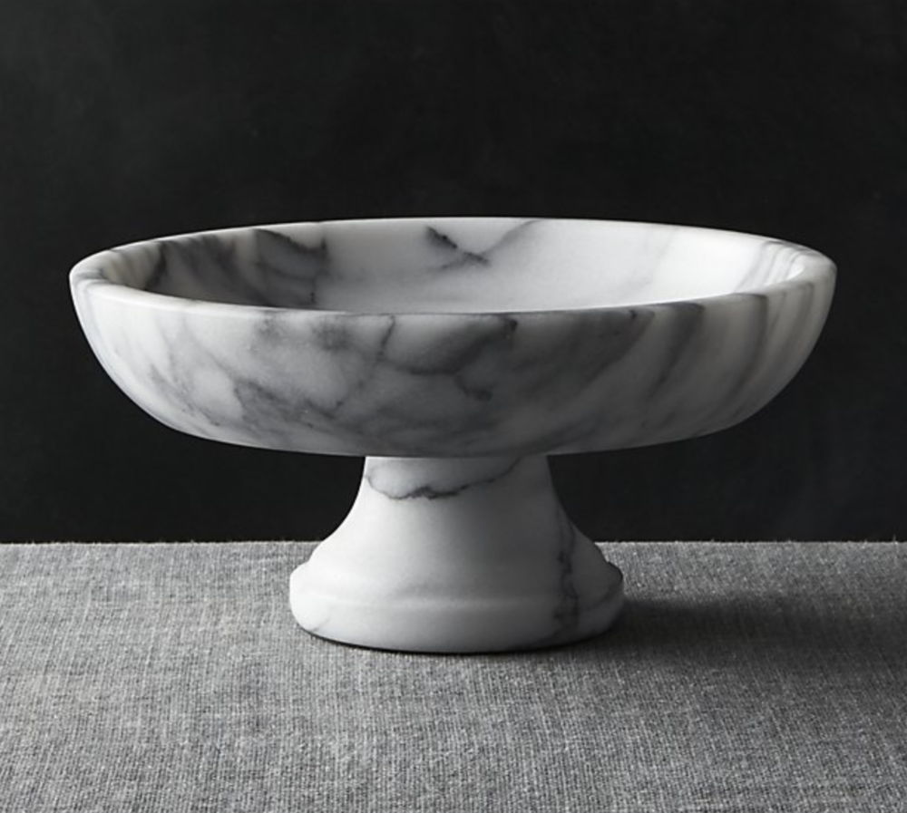 French Kitchen Marble Fruit Bowl - For the homemaker! Such a beautiful addition to anyone's counter top.