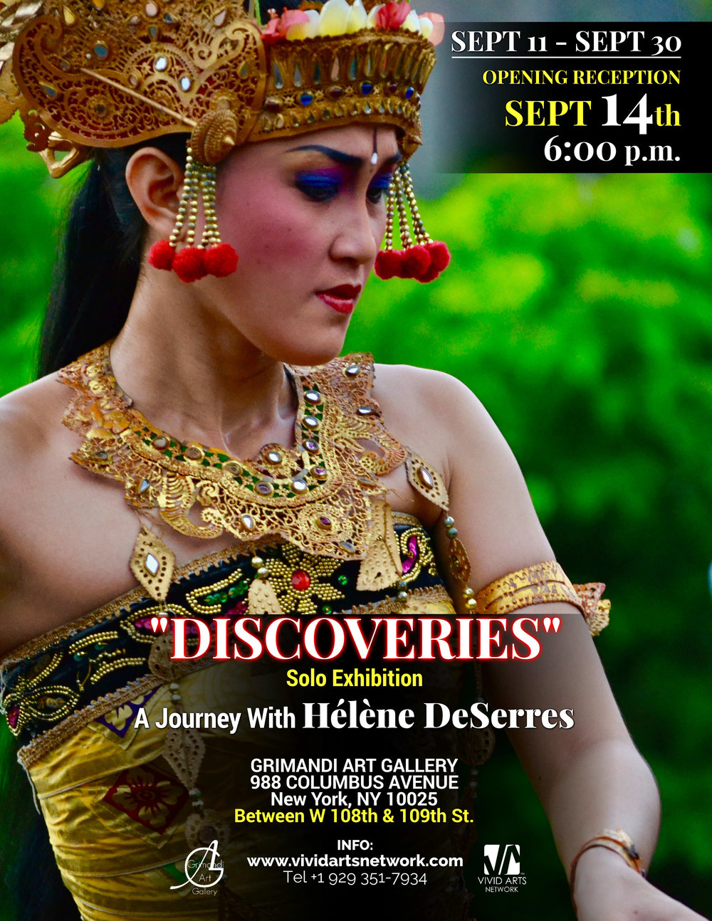 """DISCOVERIES"" - A solo Exhibition by Master Artist Hélène DeSerres"
