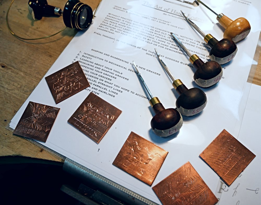 Engraving Tools and Copper Plate for Practicing in the Class .jpg