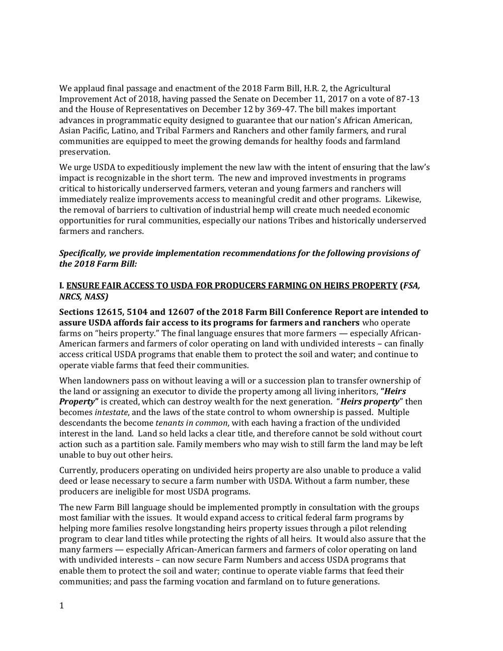 2018 Farm Bill Implementation Recommendations - Rural Co etal final March 1 page 2.jpg