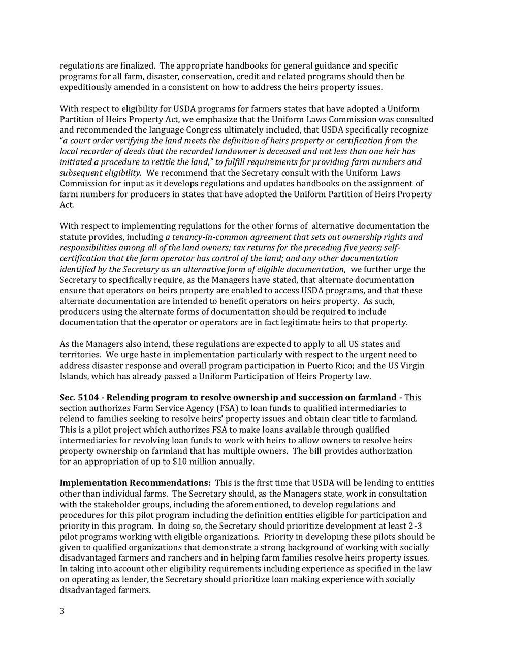 2018 Farm Bill Implementation Recommendations - Rural Co etal final March 1 page 4.jpg