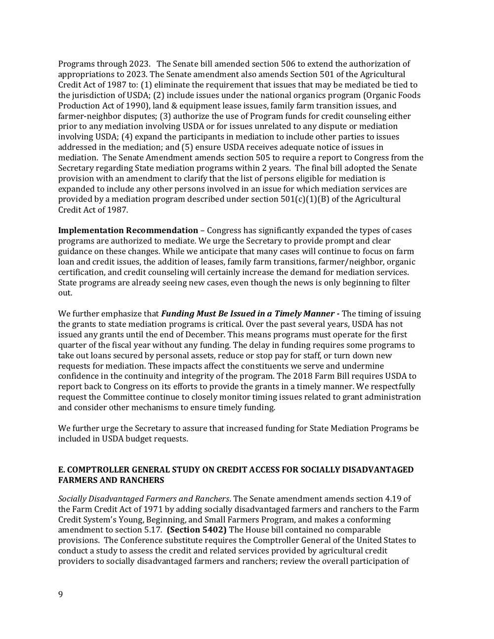 2018 Farm Bill Implementation Recommendations - Rural Co etal final March 1 page 10.jpg