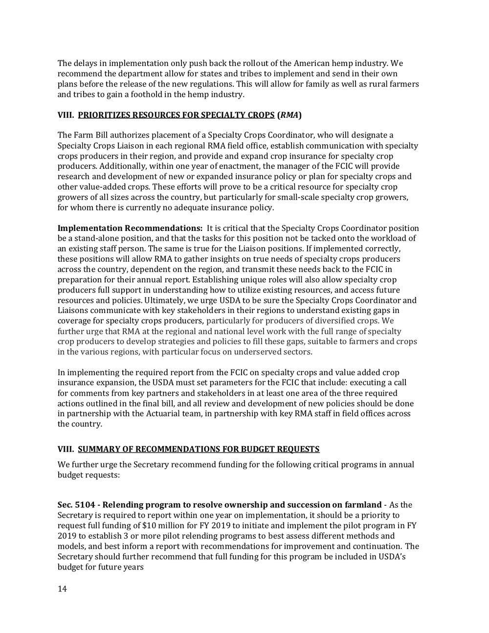 2018 Farm Bill Implementation Recommendations - Rural Co etal final March 1 page 15.jpg