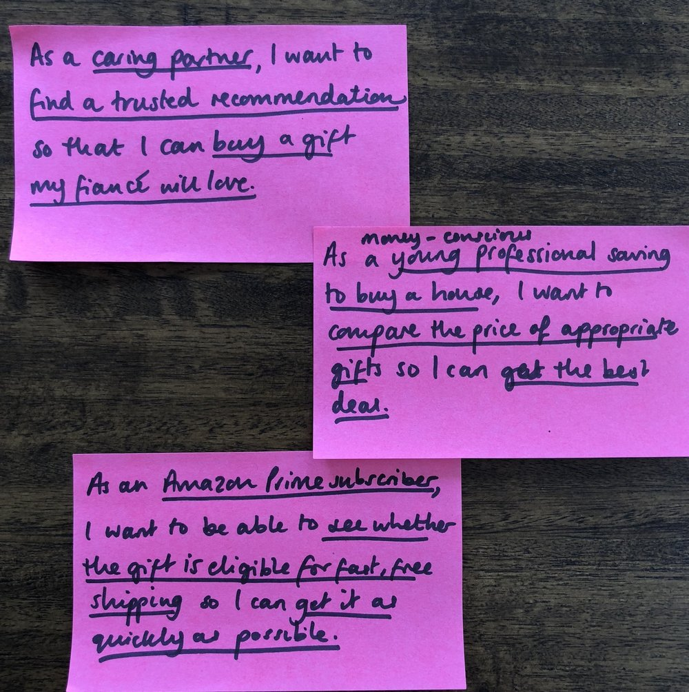 Creating user stories to stay focused