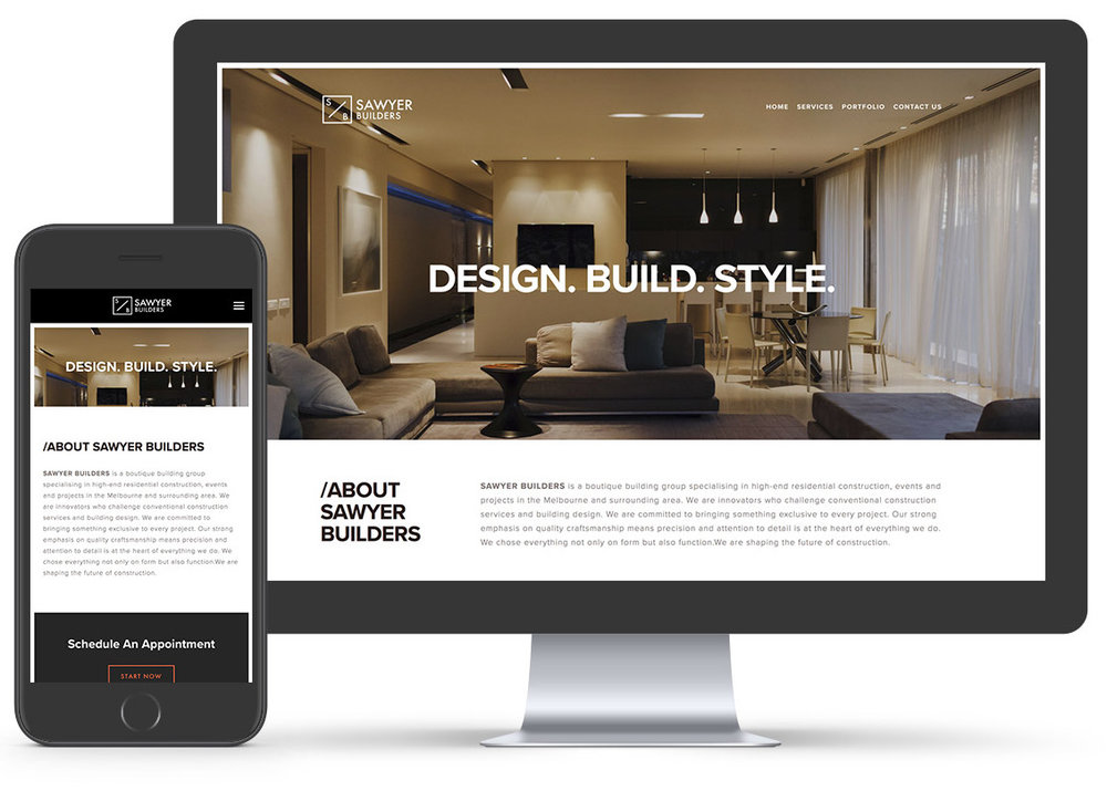 sawyer builders website design